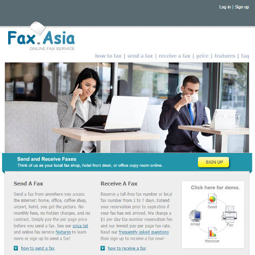 Fax.asia Domain Name And Website For Sale